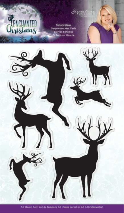 Crafter's Companion - Stempel - Enchanted Christmas - Simply Stags