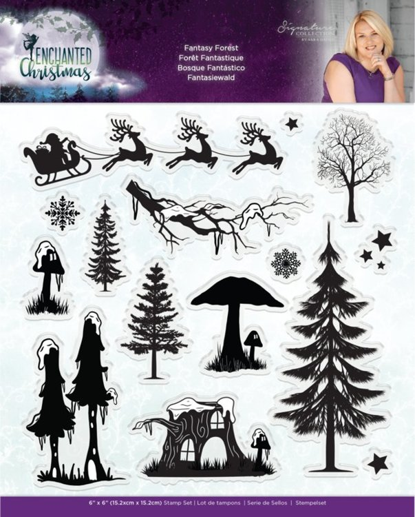 Crafter's Companion - Stempel - Enchanted Christmas - Fantasy Forest