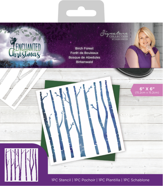 Crafter's Companion - Mask Stencil - Enchanted Christmas - Birch Forest