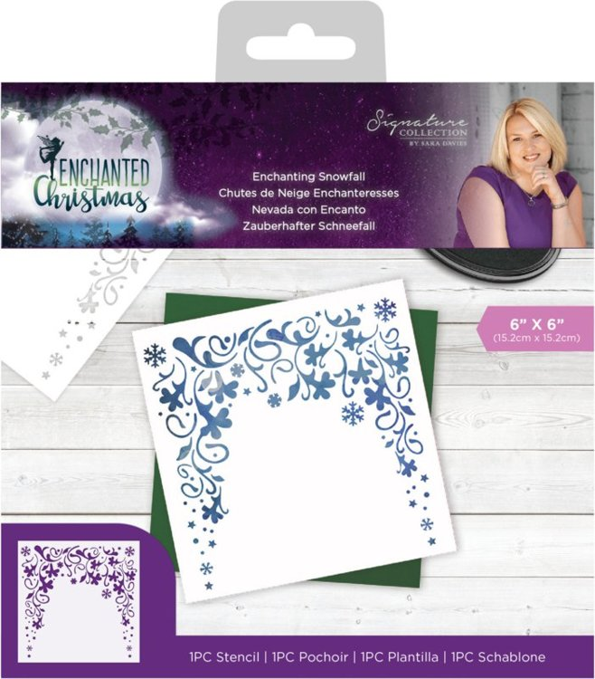 Crafter's Companion - Mask Stencil - Enchanted Christmas - Enchanting Snowfall