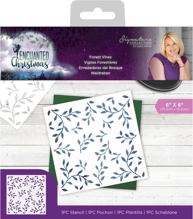 Crafter's Companion - Mask Stencil - Enchanted Christmas - Forest Vines