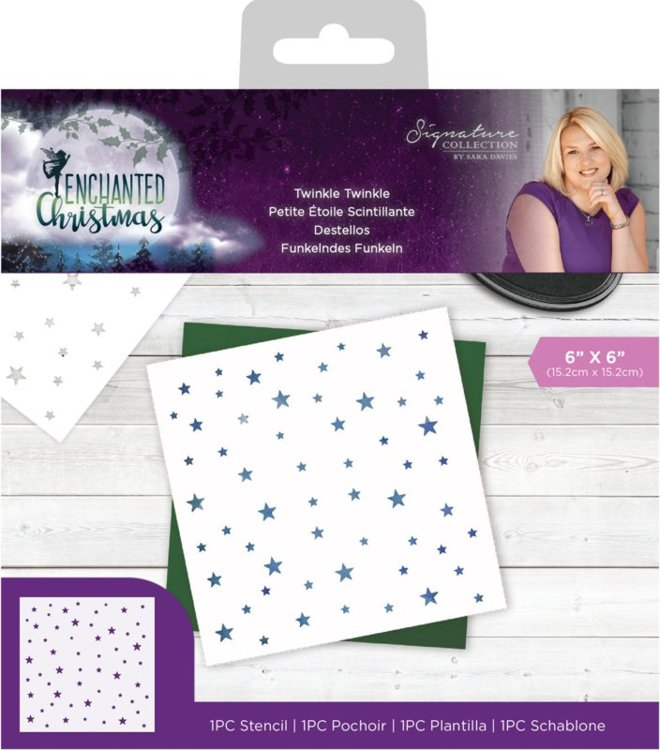 Crafter's Companion - Mask Stencil - Enchanted Christmas - Twinkle Twinkle