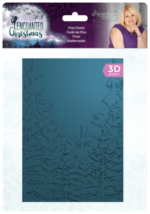 Crafter's Companion - 3D Embossingfolder - Enchanted Christmas - Pine Forest