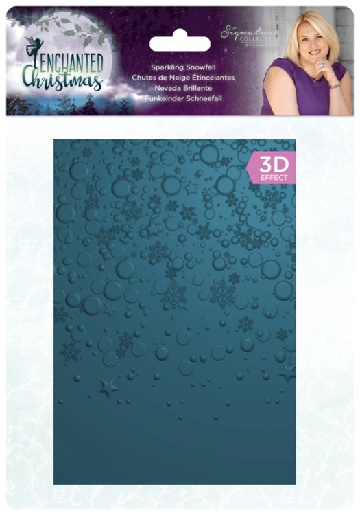 Crafter's Companion - 3D Embossingfolder - Enchanted Christmas - Sparkling Snowfall