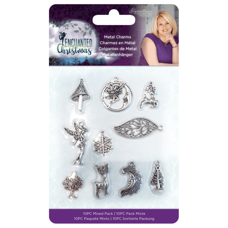 Crafter's Companion  - Enchanted Christmas - Metalen Bedels (10 st)