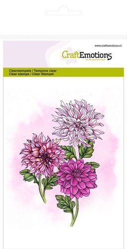 CraftEmotions - Clearstamps - Dahlia