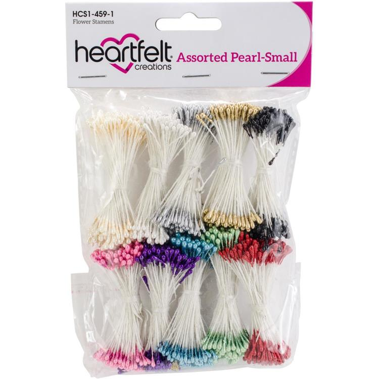 Heartfelt Creations - Pearl Stamens - Small Assorted 1mm X 2.25""