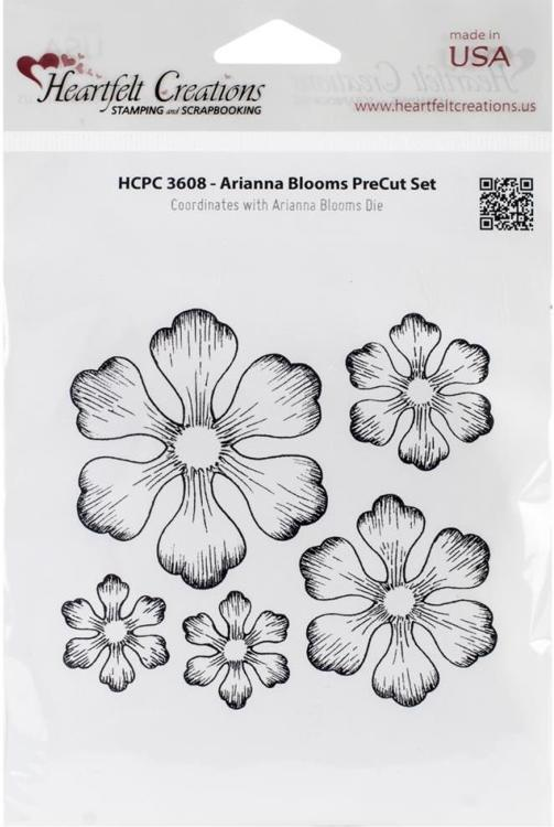 Heartfelt Creations - CLING RUBBER STAMP - Arianna Blooms