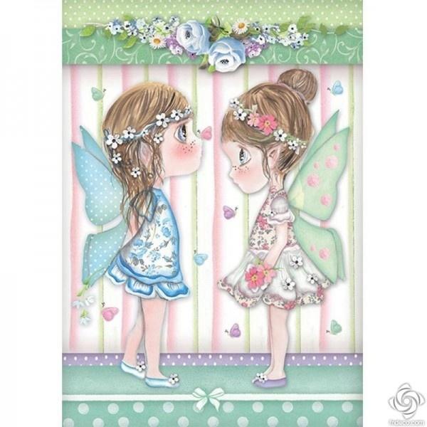 Stamperia - Rijstpapier A4 - Tatiaanse feeën met vlinders