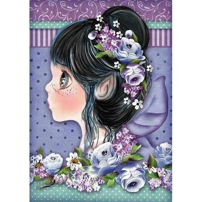 Stamperia - Rice Paper A4 - Tatiana's Lilac Fairies