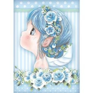 Stamperia - Rice Paper A4 - Tatiana's Light Blue Fairies