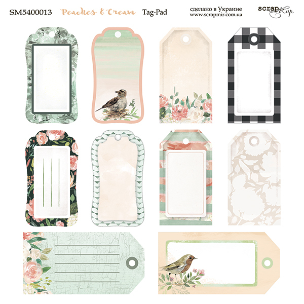 Scrapmir - Peaches & Cream Tag Sheet