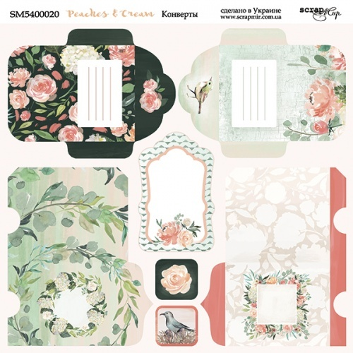 Scrapmir - Peaches & Cream Envelope Sheet