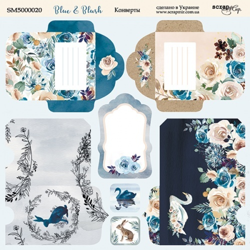 Scrapmir - Blue & Blush Envelopes 20 x 20 cm