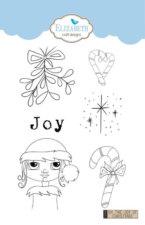 Elizabeth Craft Designs - Clearstamps Charlene vd Vorst - Oh the joy of Christmas