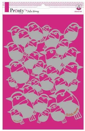 Pronty by Julia Woning - Stencil A4 - Birds