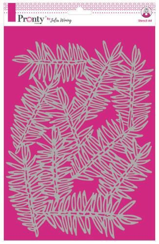 Pronty by Julia Woning - Stencil A4 - Pine Branches
