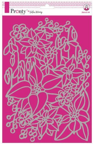 Pronty by Julia Woning - Stencil A4 - Inter Flowers