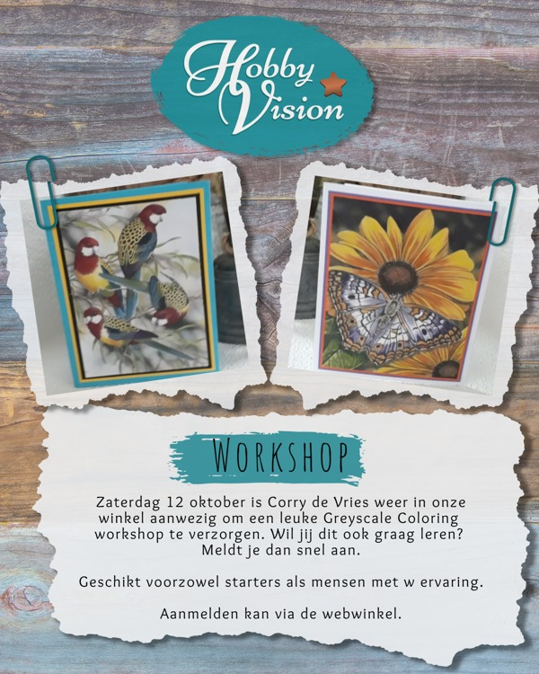 Workshop - Greyscale Coloring met Corry de Vries - Zaterdag 12 oktober