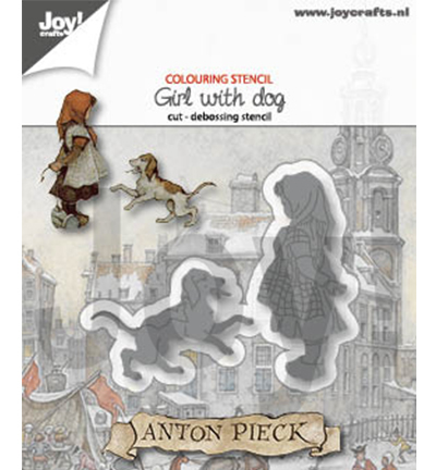 Joy! Crafts - Anton Pieck - Stansmal Girl with a Dog