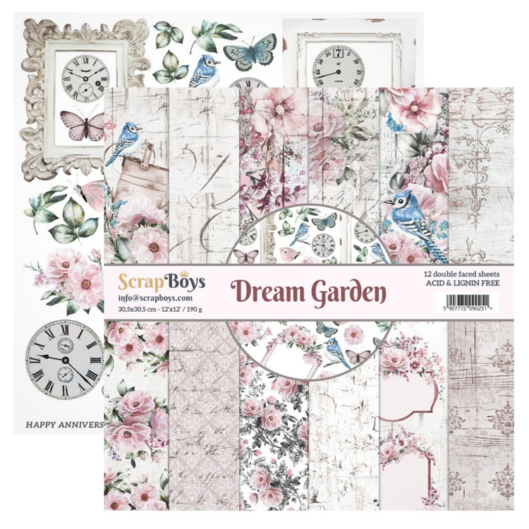 ScrapBoys - Dream Garden - Paperpad 30,5 x 30,5 cm
