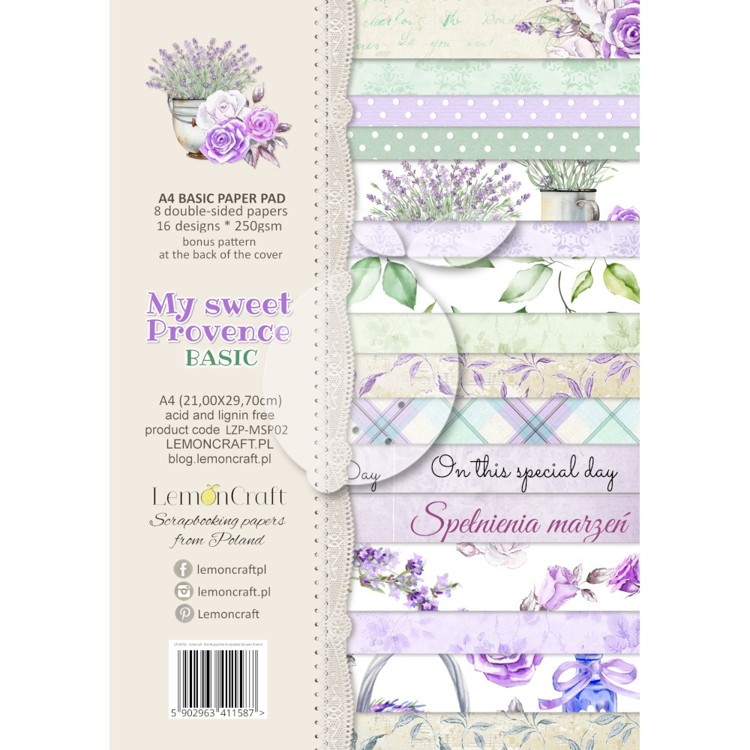 Lemoncraft - Paper Collection Set A4 - My Sweet Provence