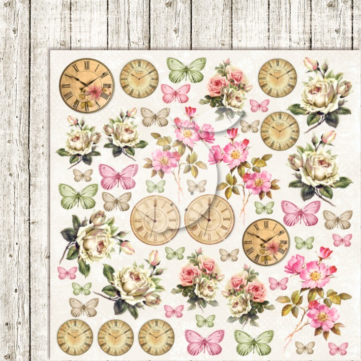 Scrappapier Lemoncraft - House of Roses EXTRA - Cutting Sheet
