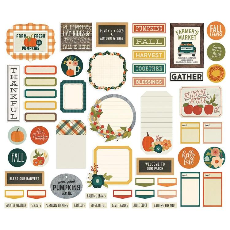 Simple Stories - Fall Farmhouse - Bits & Pieces -  Die Cuts