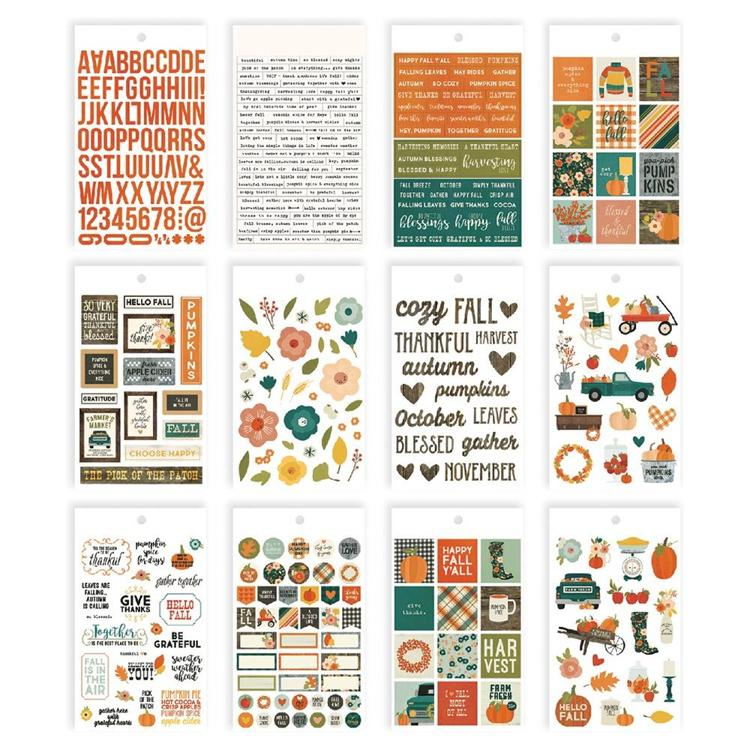 Simple Stories - Fall Farmhouse - Stickers 12 Vel
