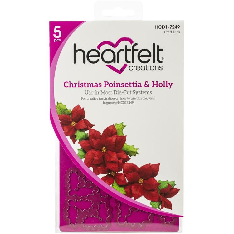 Heartfelt Creations - Cutting Die - Poinsettia & Holly