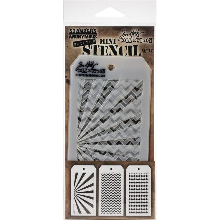Tim Holtz - Mini Layered Stencil Set - 42