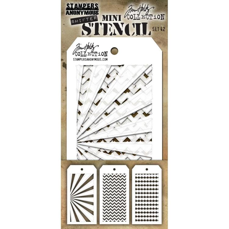 Tim Holtz - Mini Layered Stencil Set - 43