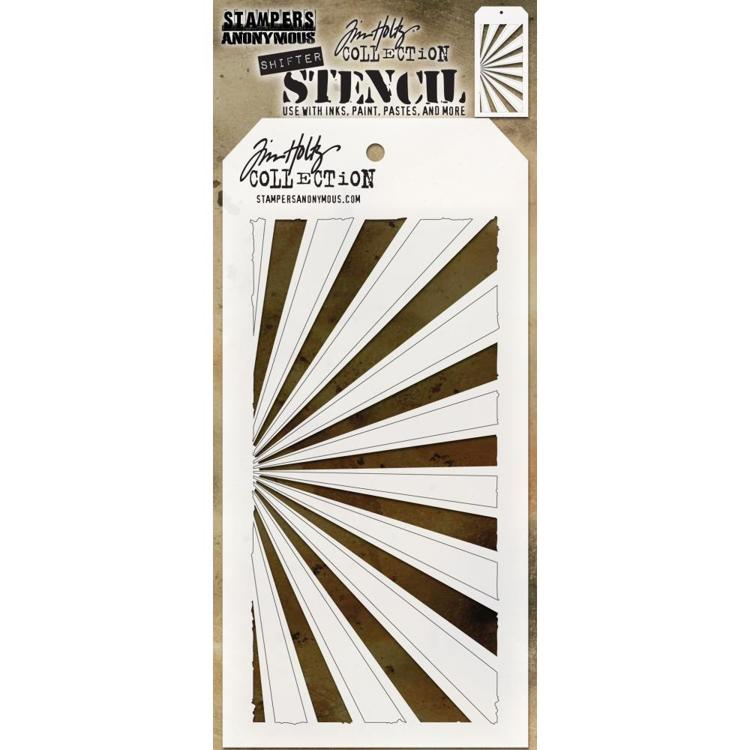 Tim Holtz - Layered Stencil - Shifter Rays