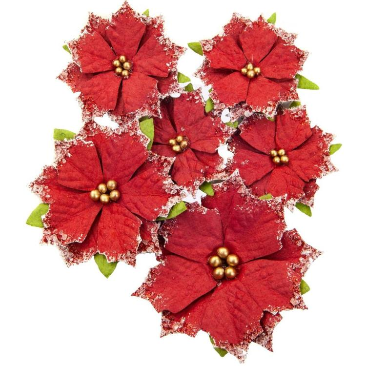 Prima Marketing - Christmas In The Country - Mulberry Paper Flowers