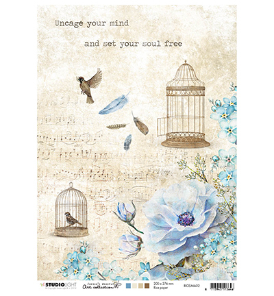 Studio Light - Jenine's Mindful Art Collection - Rice Paper A4 - 02