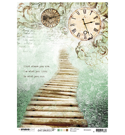 Studio Light - Jenine's Mindful Art Collection - Rice Paper A4 - 03