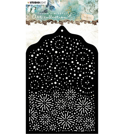 Studio Light - Jenine's Mindful Art Collection - Mask Stencil A6 - 02