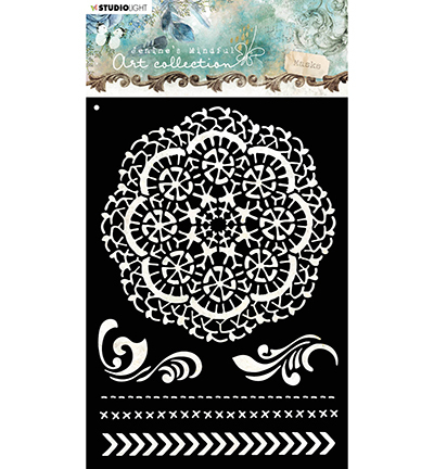 Studio Light - Jenine's Mindful Art Collection - Mask Stencil A5 - 03