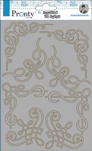 Pronty by Jolanda - Chipboard A5 - Barok Corners