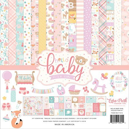 Echo Park - Hello Baby - It's A Girl - Collection Kit 30,5 x 30,5 cm