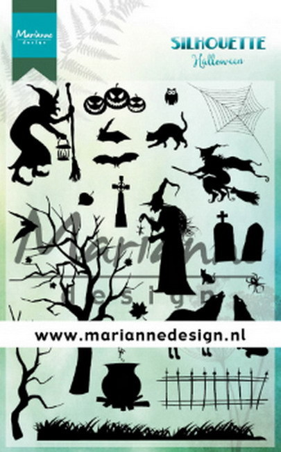 Marianne Design - Clearstamp - Silhouette Stamps - Halloween