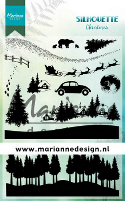 Marianne Design - Clearstamp - Silhouette Stamps - Christmas