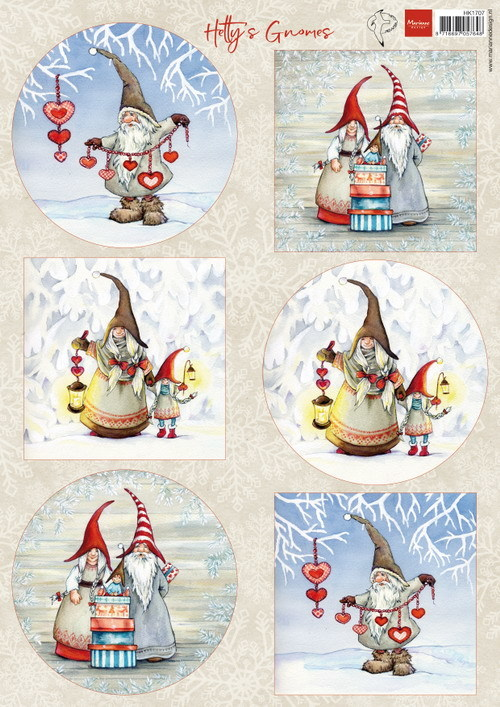 Marianne Design - Knipvel - Hetty's Winter Gnomes