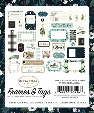 Carta Bella - Home Again - Frames & Tags