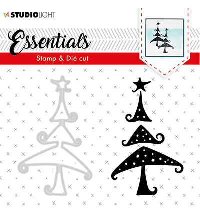 Studio Light - Stamp & Die Cut Set - Essentials - Christmas Silhouettes nr 36