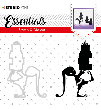 Studio Light - Stamp & Die Cut Set - Essentials - Christmas Silhouettes nr 34