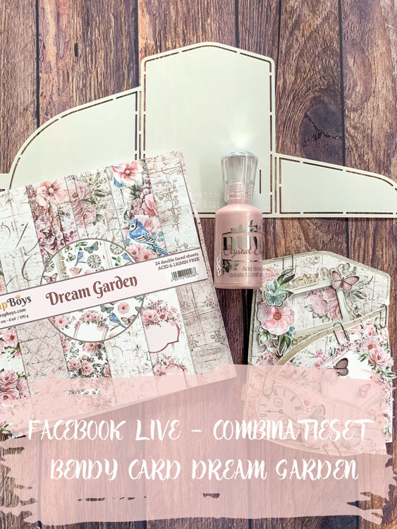 (PRE-ORDER) FacebookLIVE - Combinatieset - Bendy card Dream Garden