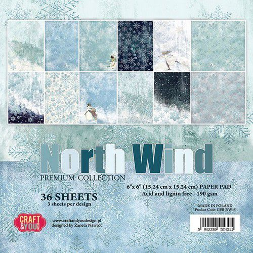 Paperpad Craft and You - 15,2 x 15,2 cm - North Wind