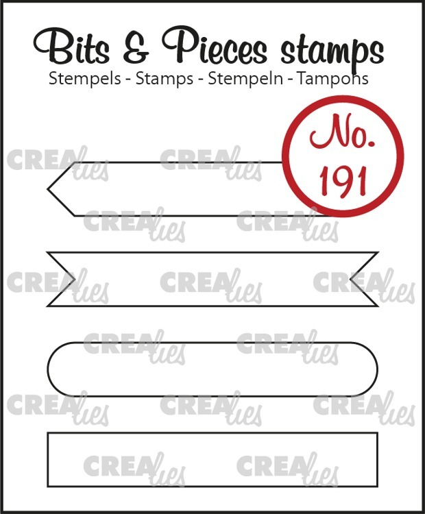 Crealies - Clearstamps Bits & Pieces - Strips Set A (outline)