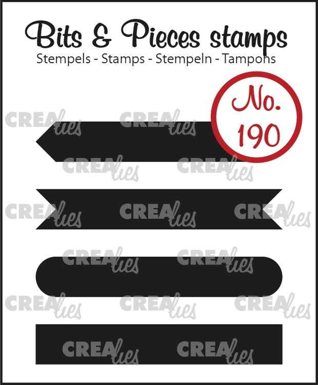 Crealies - Clearstamps Bits & Pieces - Strips Set A (solid)